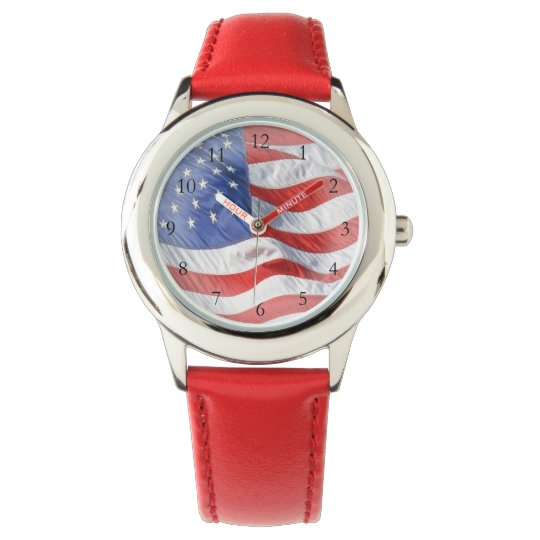 Waving American Flag Watch