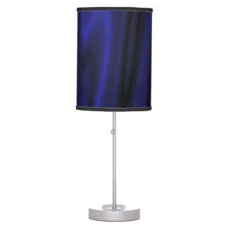 Waving blue table lamp