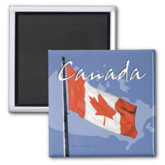 Waving Canada Flag Travel Souvenir Fridge Magnet