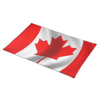 Waving Canadian Flag Placemats