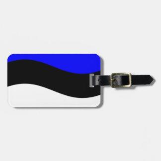 Waving Estonia Flag Luggage Tag