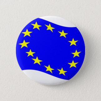 Waving European Union Flag 2 Inch Round Button