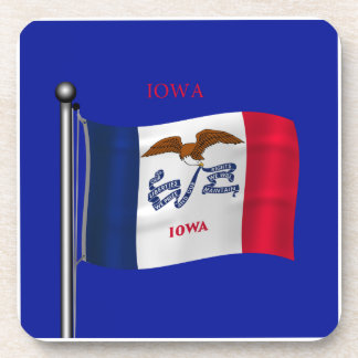 Waving Flag of Iowa Coaster