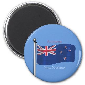 Waving Flag of New Zealand Magnet