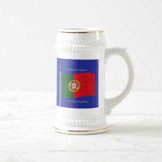 Waving Flag of Portugal Beer Stein