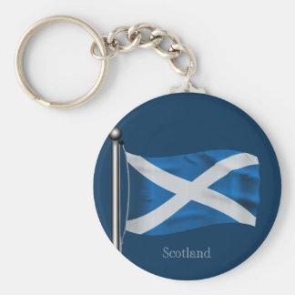 Waving Flag of Scotland Keychain