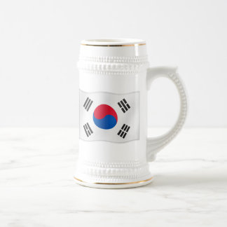 Waving Flag of So Korea Beer Stein