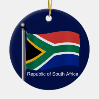 Waving Flag of South Africa Ceramic Ornament