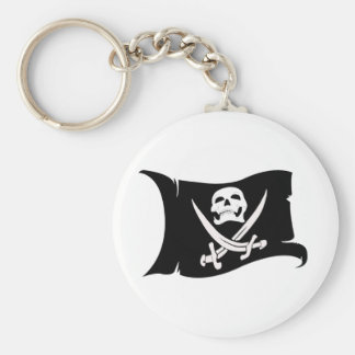 Waving Flag-Pirate Icon #10 Keychain