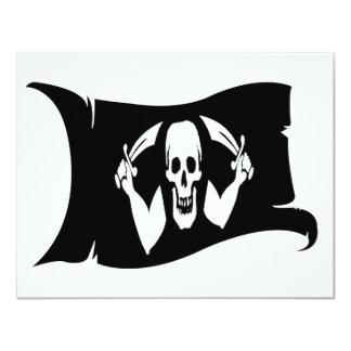 Waving Flag-Pirate Icon #1 4.25x5.5 Paper Invitation Card