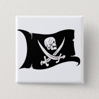 Waving Flag-Pirate Icon #6 2 Inch Square Button