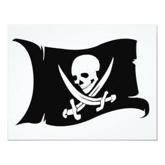 "Waving Flag-Pirate Icon #7 4.25"" X 5.5"" Invitation Card"