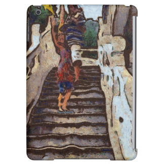 Waving from the steps iPad air cover