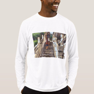 Waving from the steps T-Shirt