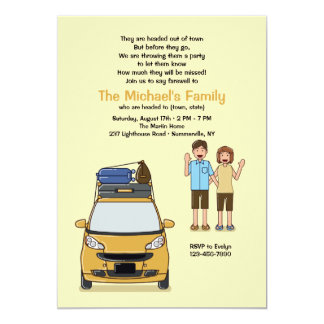 Waving Goodbye Going Away Party Invitation