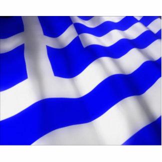 Waving Greek Flag Photo Cut Out