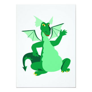 Waving Green Dragon Card