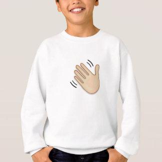 Waving Hand Sign Emoji Sweatshirt