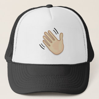 Waving Hand Sign Emoji Trucker Hat