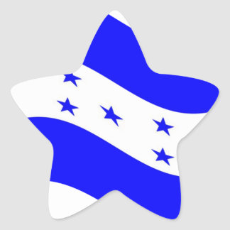 Waving Honduras Flag Star Sticker