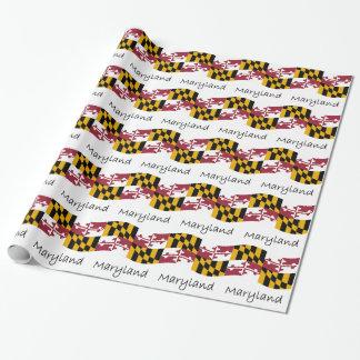 Waving Maryland Flag And Name