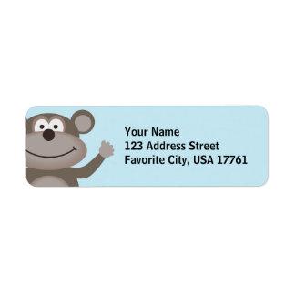Waving Monkey Address Labels