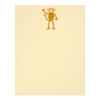 Waving Monkey. Letterhead