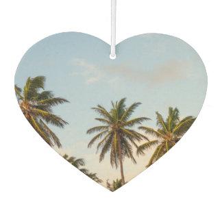 Waving palm trees high in sky car air freshener