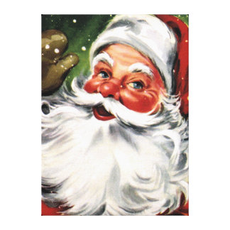Waving Santa Claus Canvas Print