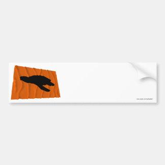 Waving Sea Turtle Nesting Flag Bumper Sticker