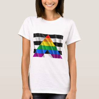 Waving straight ally flag T-Shirt