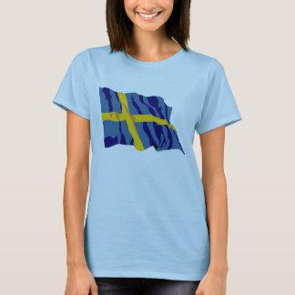 Waving Swedish Flag T-Shirt
