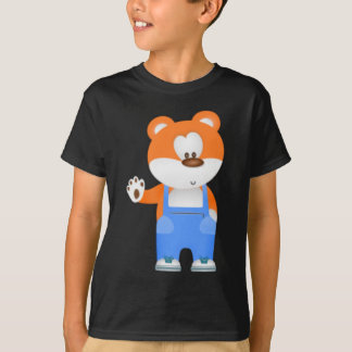 Waving Teddy Bear T-Shirt