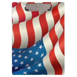 Waving U.S. Flag Clipboards