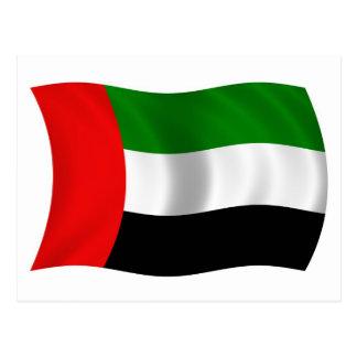 Waving UAE Flag Postcard