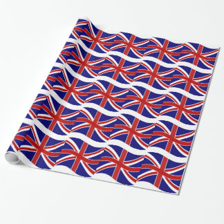 Waving Union Jack Wrapping Paper