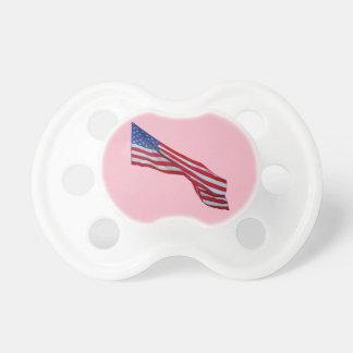 WAVING US FLAG PACIFIER - For Girl