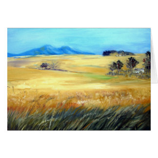 Waving Wheatfields Card