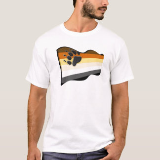 Wavy 3D Bear Flag T-Shirt