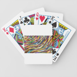 Wavy Abstract Bicycle Playing Cards