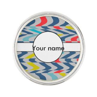 Wavy abstract design lapel pin