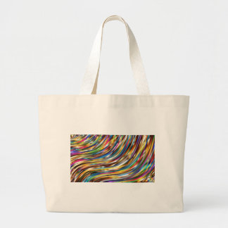 Wavy Abstract Large Tote Bag
