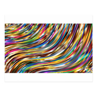 Wavy Abstract Postcard