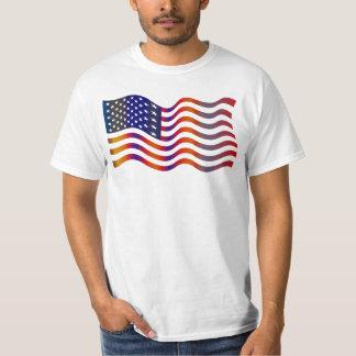 Wavy American Flag T-Shirt
