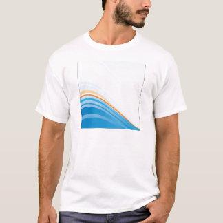 Wavy background design T-Shirt