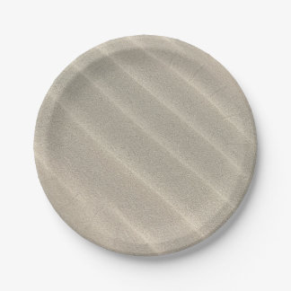 Wavy Beach Sand 7 Inch Paper Plate