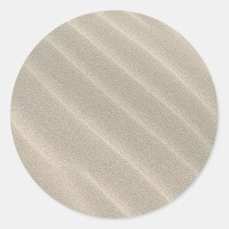 Wavy Beach Sand Classic Round Sticker