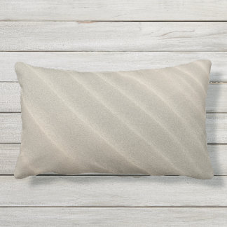Wavy Beach Sand Outdoor Lumbar Pillow