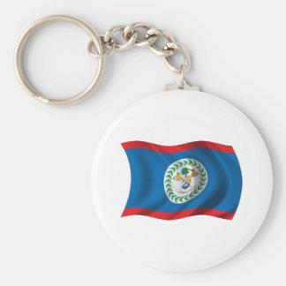 Wavy Belize Flag Keychain