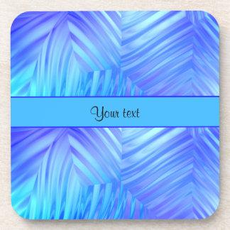 Wavy Blue Glass Beverage Coaster